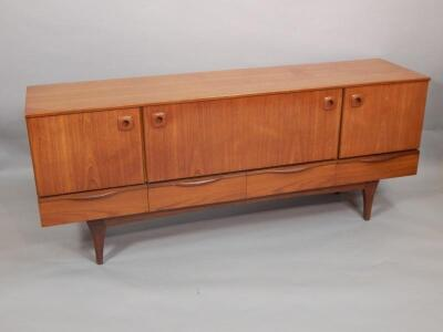 A retro style teak sideboard