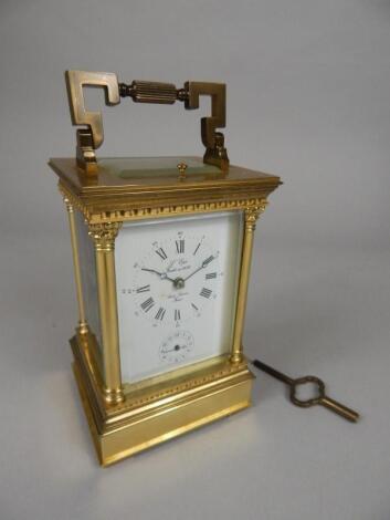 A modern brass carriage clock