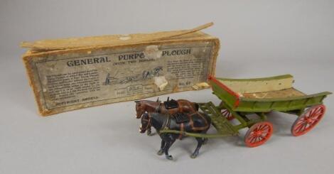 An A. W. Britain General Purpose die cast plough