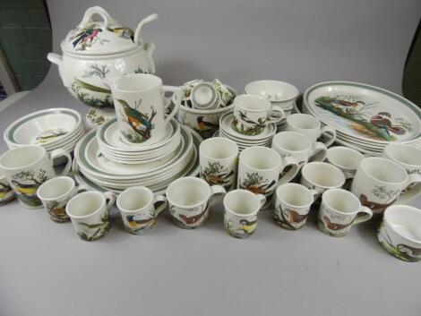 A Portmeirion Birds of Britain part tea and dinner service