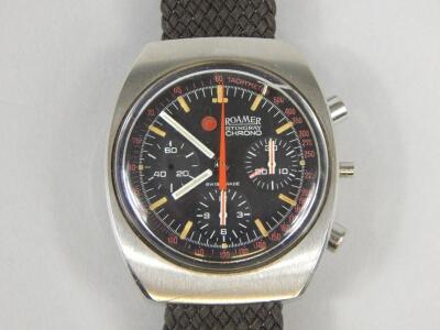 A Romer Stingray Chrono retro style wristwatch