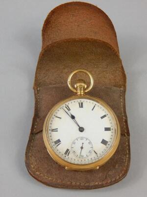 An 18ct gold pocket watch