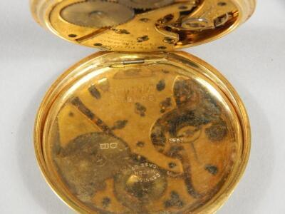 An 18ct gold pocket watch - 3