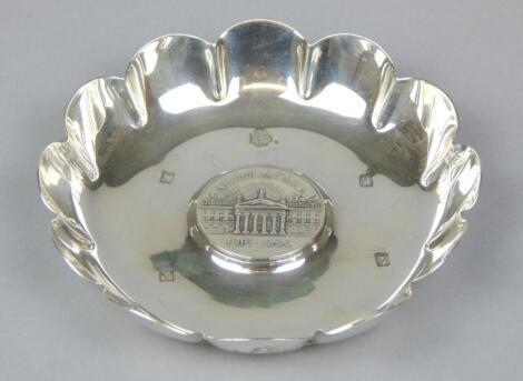 An Irish silver dish
