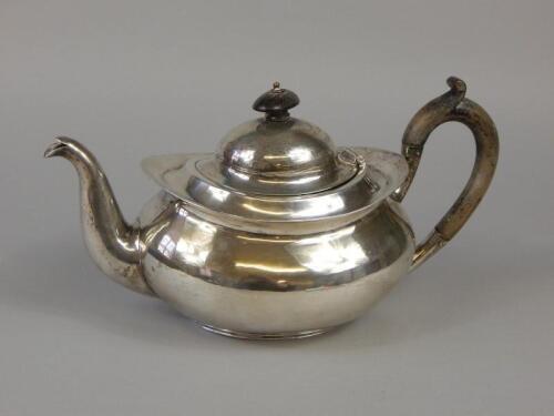 An English white metal teapot