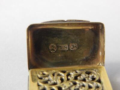 A George IV silver vinaigrette - 4