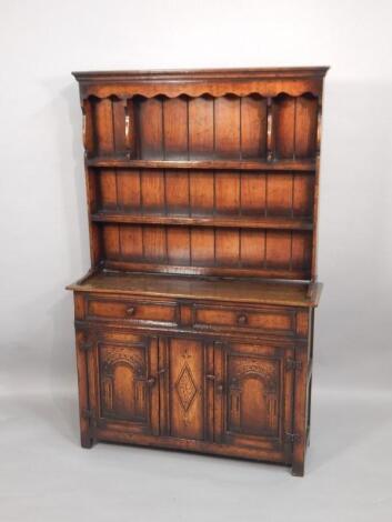 A small reproduction oak dresser