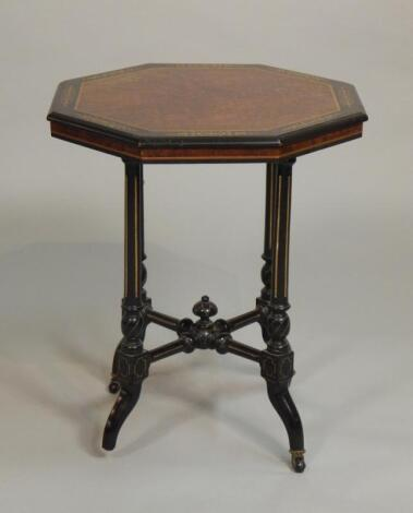 A Victorian aesthetic style ebonised occasional table
