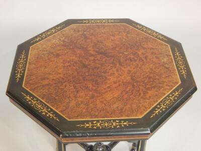 A Victorian aesthetic style ebonised occasional table - 3