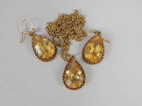 A citrine set jewellery suite