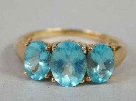 A 9ct gold dress ring