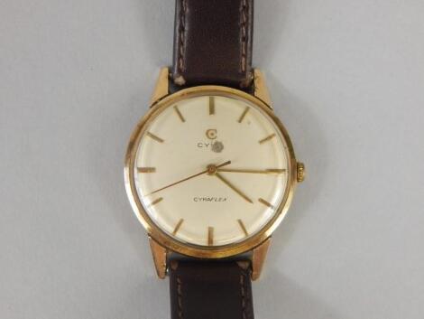 A Cyma Cymaflex gentleman's wristwatch
