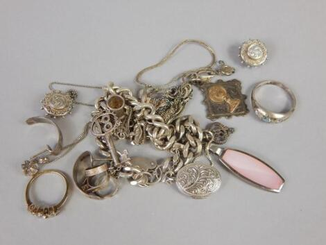 Various silver and other jewellery
