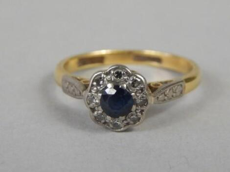 An 18ct gold dress ring