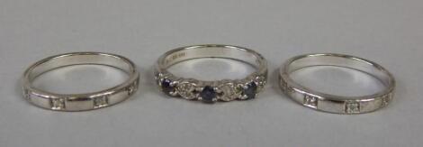 A Brooks & Bentley eternity ring set