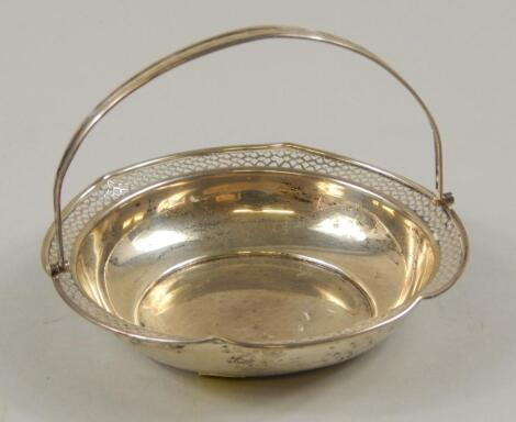 A Continental white metal basket