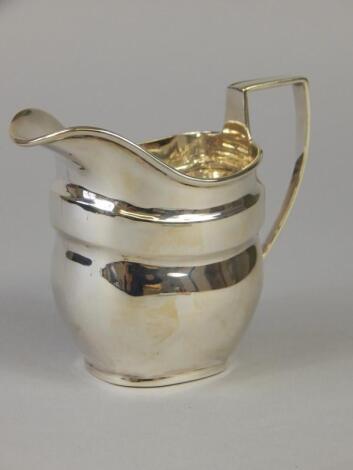 A 19thC silver cream jug