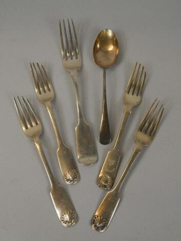 Various items of silver cutlery