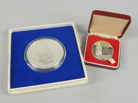 Two commemorative coins