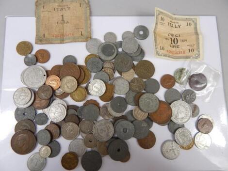 A quantity of mixed coins