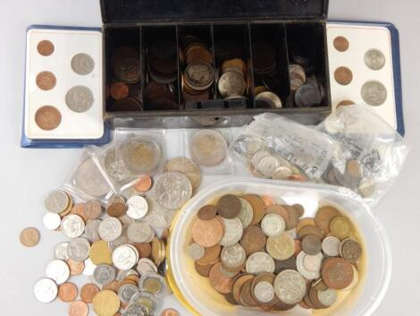 A large quantity of British and foreign coins