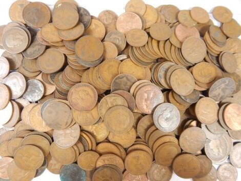Over a hundred pennies and half pennies