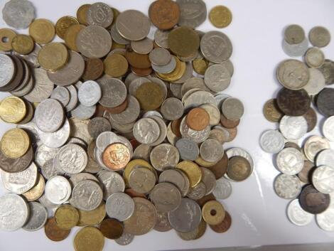 A quantity of foreign coins