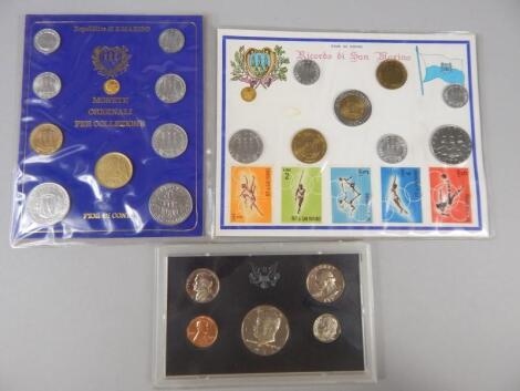 Various coin and coin proof sets