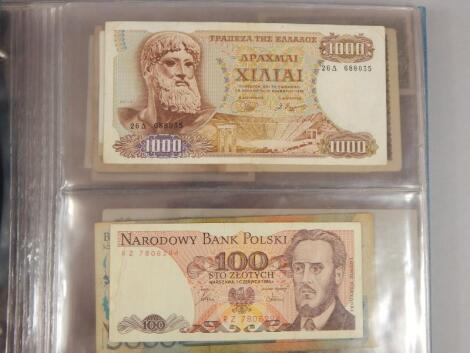 An album of foreign bank notes