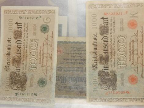 An album of early German and French bank notes