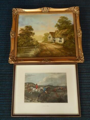 Robert Ixer. Cottage beside a pond