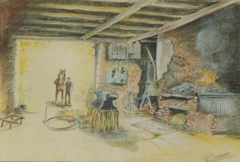 E Coldron. Blacksmith shop
