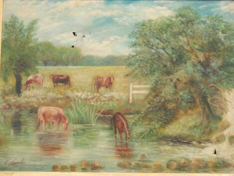 K Leake. Cattle watering