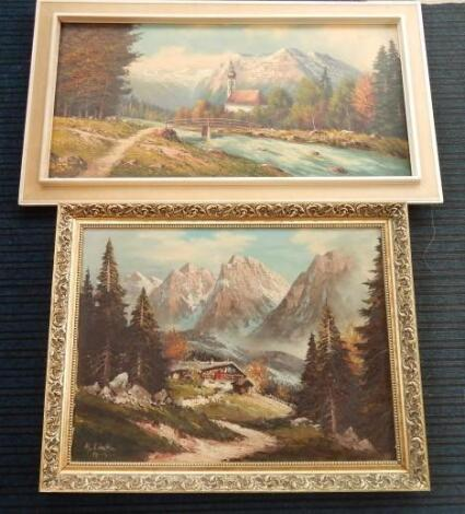 A Lineker. Alpine scene
