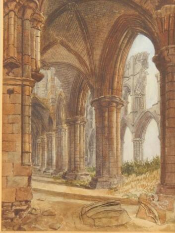 Attributed to John Whitaker Alan. Whitby Abbey