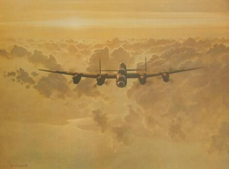 After Gerald Coulson. Lancaster Bomber