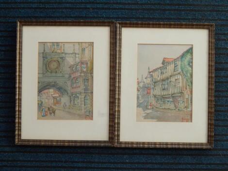 L. Easton. Continental street scenes