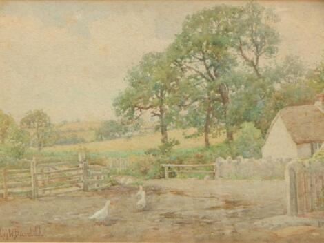Ralph William Bardill (1876-1935). Farmyard scene