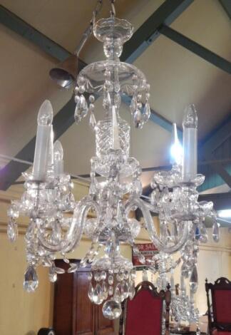 A Venetian style six branch chandelier