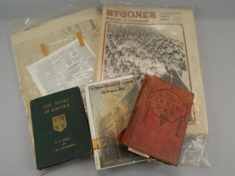 Various Lincolnshire and other Lincolnshire related books and ephemera etc.
