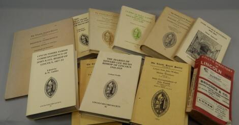 Various volumes of the Lincoln Record Society