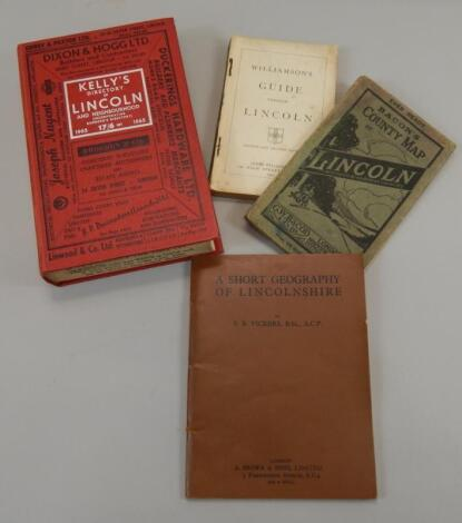 Various books relating to Lincoln and Lincolnshire