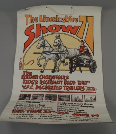 A Lincolnshire Show poster for 1977