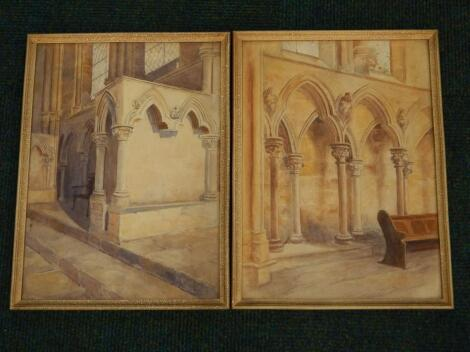 A Beyley. Lincoln Cathedral interior