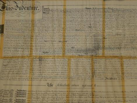 An indenture relating to a Reverend Metcalf