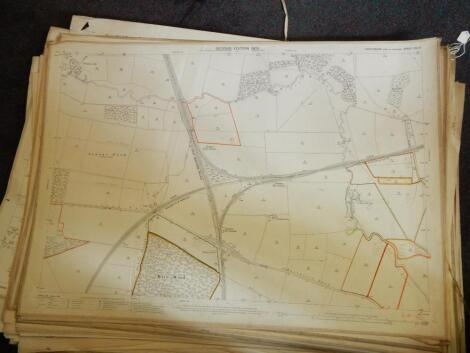A large quantity of early 20thC and later plans and maps