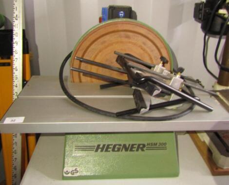 A Hegner HSM300 disc sander
