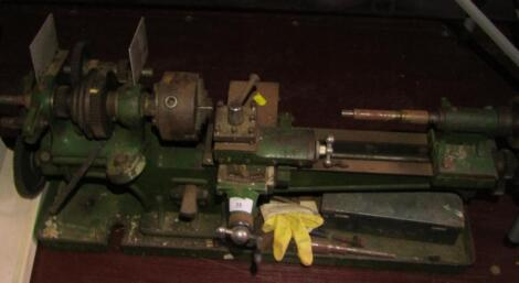 A small woodworking lathe.