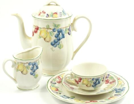 A Villeroy & Boch part dinner and tea service decorated in the Melina pattern