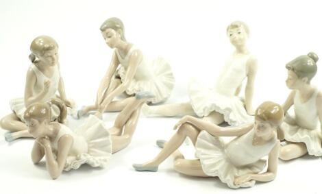Six Nao porcelain figures of ballerinas